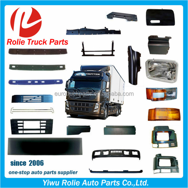 Volvo Truck Body Parts Accessories Fh12 Fh16 Fm Truck Spare Parts For High Quality Volvo Truck Parts