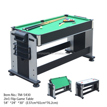 2in1 Swivel Multi game table billiards table Air hockey Flip table