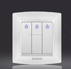 2015Nice design 3 gang 1 way electric wall switch/LED electric switch
