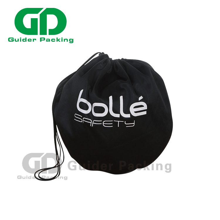 factory custom reusable 190t folding round shaped foldable ball packaging polyester drawstring bag