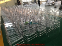 Clear White Black PP and PC Resin Cross Back Chiavari Phoenix Chair