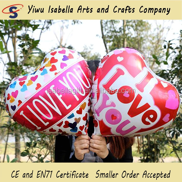 Wholesale made in china 18inch heart I love you mylar balloon, globos love