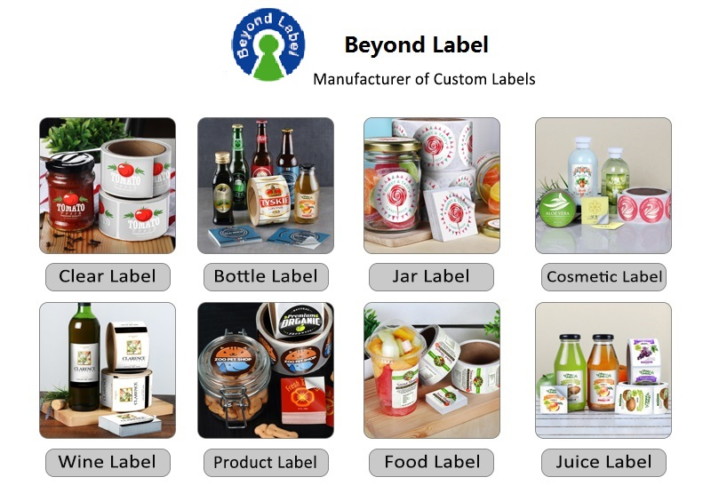 Printing Strong Adhesive Custom Label Stickers with QR Code for Food Promotion