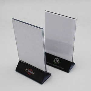 Custom Restaurant Plastic Acrylic Table Stand Menu Holder