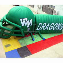 New products green football helmet inflatable for promotion