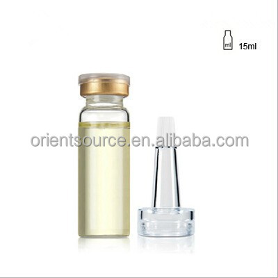 15ml cosmetic glass bottle with PVC dropper