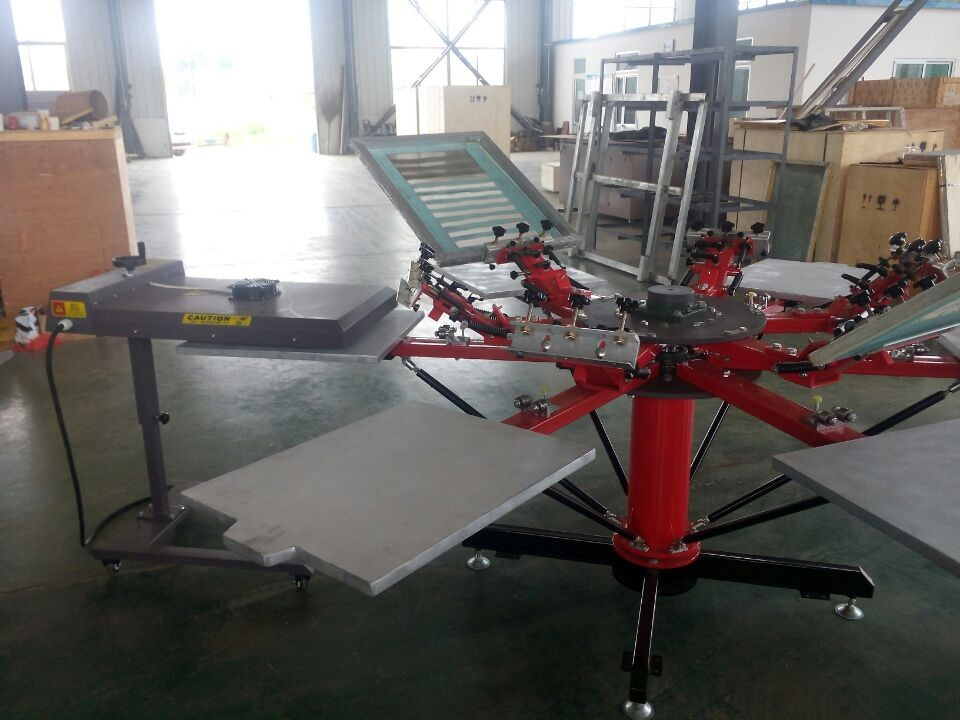 Direct Factory Manual 8 Color 8 Station T-Shirt Silk Screen Printing Machinery.jpg