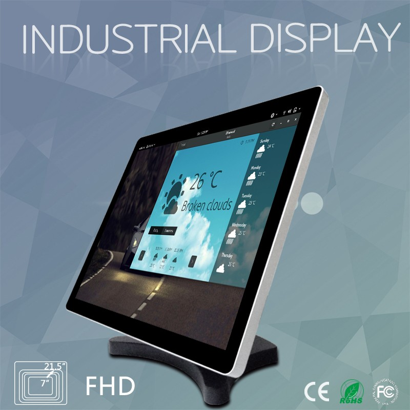 15inch embedded flat screen computer high-brightness LCD display industrial monitor