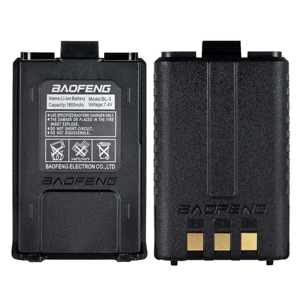 KKmoon BAOFENG BL-5 High Capacity 7.4V 1800mAh Li-ion Extended Battery for Baofeng UV 5R UV-5R Two-way Radio Batteries