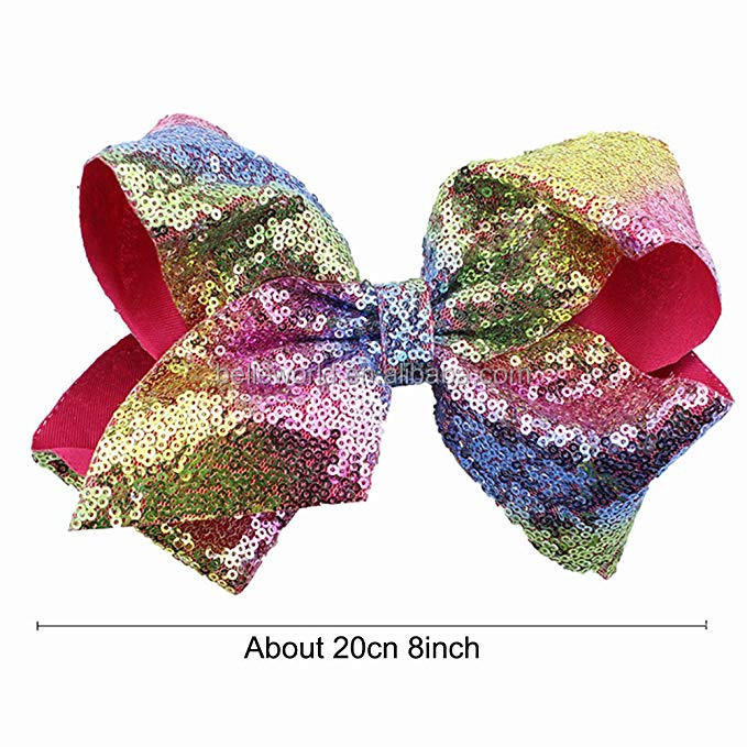 Colorful big bowknot high quality clips for baby girls