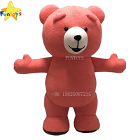Funtoys CE Adult Brown Teddy Bear Animal Inflatable Costume Customize Suitable For Halloween