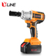 High Torque Cordless Impact Wrench 18 Volt with 1 x 4.0Ah Lithium Battery and Battery Charger and Kitbox
