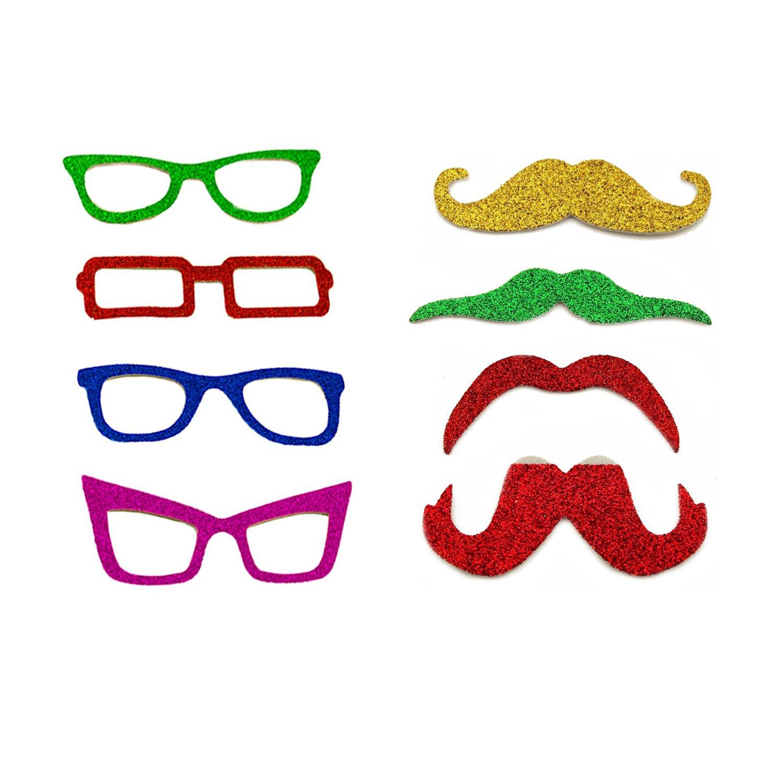 Buy Adorox Masquerade Glitter Mustache Vintage Glasses Photo Booth ...