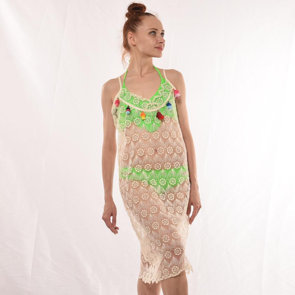 ขายส่งสุภาพสตรี beachwear เซ็กซี่ชุดลำลองผู้หญิง handmade fringe ชุดว่ายน้ำ beach สวมบิกินี่ cover up ชุดลูกไม้สำหรับผู้หญิง