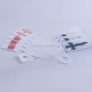 slim disposable low cost paper luggage tag for travel agency