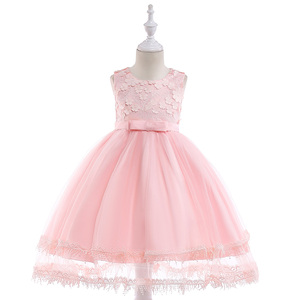 Wholesale Summer Children Graduation Party Wedding Apparel Garment Boutique Clothing Girls Dress L5030