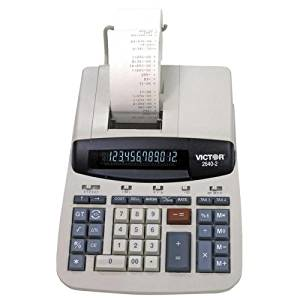 "Victor Technologies 12-Digit Desktop Calculator,2-Color Printing,8""X11-1/4""X3"" - Victor Technologies 12-Digit Desktop Calculator,2-Color Printing,8""X11-1/4""X3""Commercial Desktop Calculator With Equal"