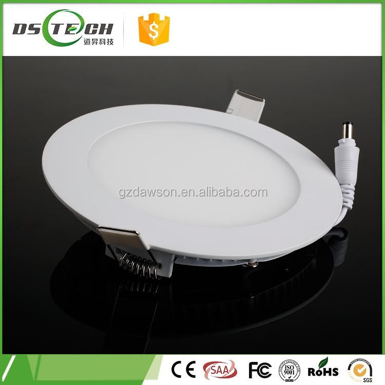 Ultra thin design 24W LED flat ceiling recessed hidden mounting slim round panel light LED