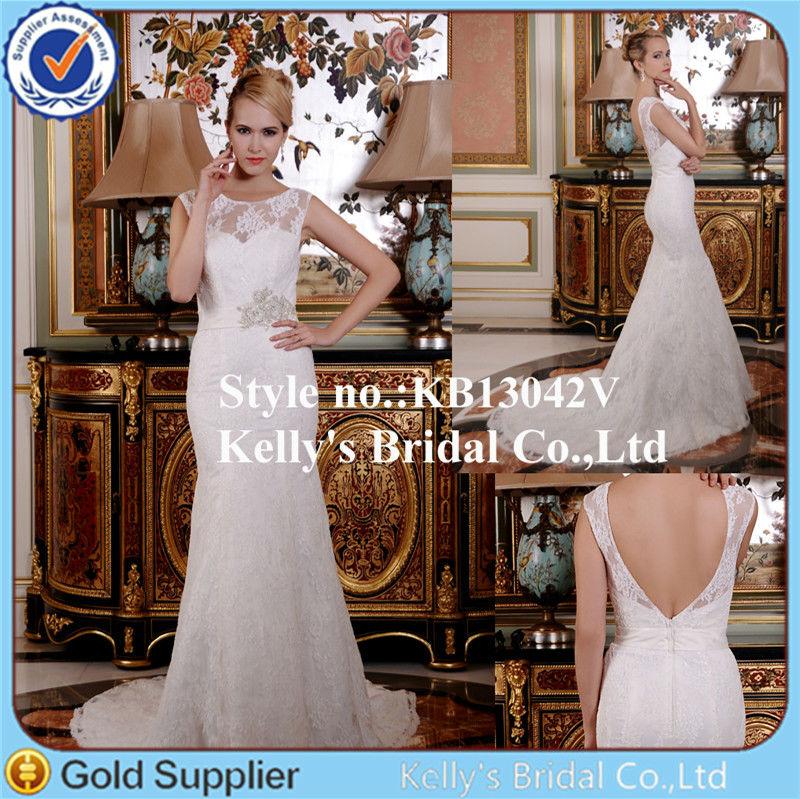 80453589f890 Venta al por mayor vestidos de novia con manga larga 2014-Compre ...