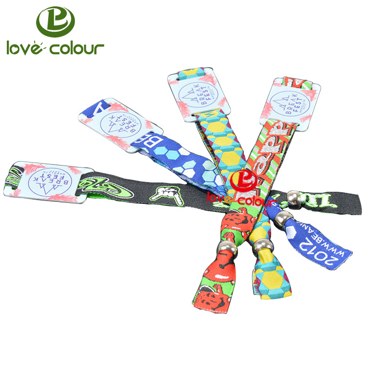 New design fabric wristbands with one off closure with RFID Small Tag