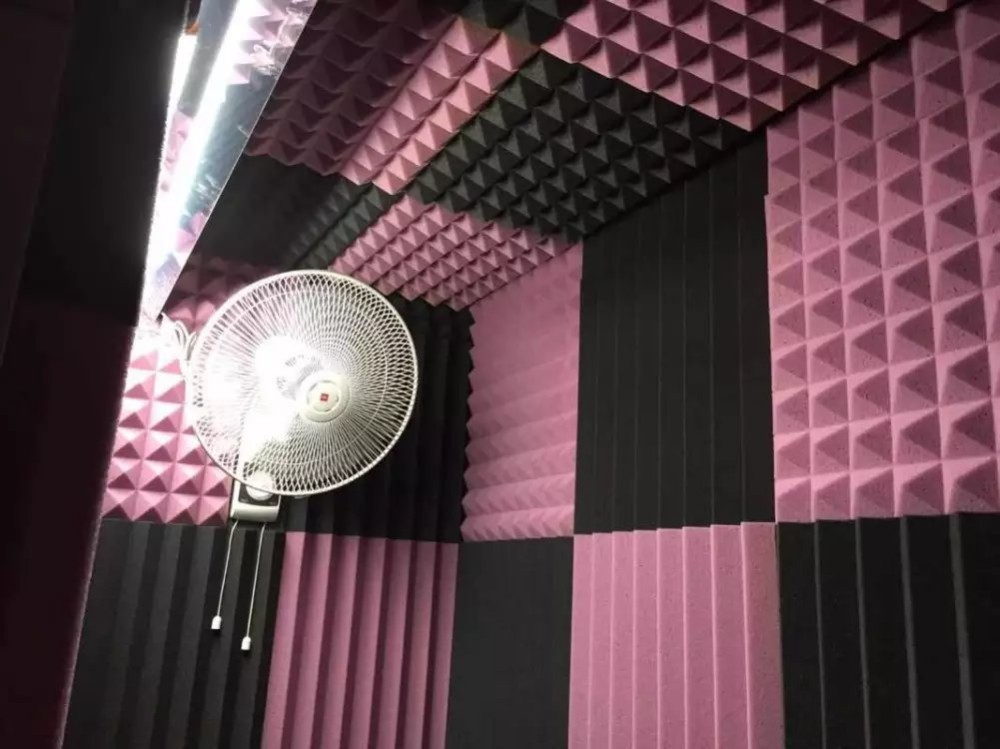 Room Acoustic Insulation : Wedge shape sound proofing foam acoustic insulation