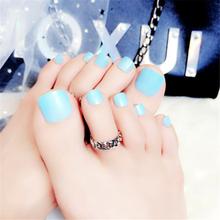 Короткие ногти Kiss для ног, дизайнерские ногти для девочек, искусственные пластмассы для пальцев ног, искусственная губка Pied без клея(Китай)