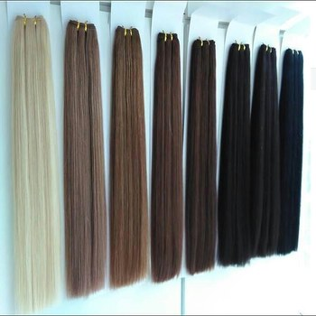 Wholesale healthy human hair extension weft, top grade virgin remy brazilian grey/red/purple colored human hair weave