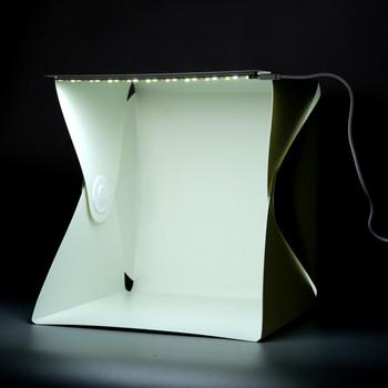 Mini Portable Photography Studio Light Tent LightRoom Light Box Kit with LED Light & Mini Portable Photography Studio Light Tent LightRoom Light Box ...