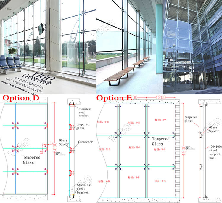 Glass partition wall/Glass curtain wall, View Glass partition wall ...
