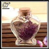 80ml glass heart bottle with cork seal for wedding gift