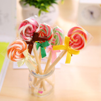 novelty design promotional pen artifical lollipop shape ballpen