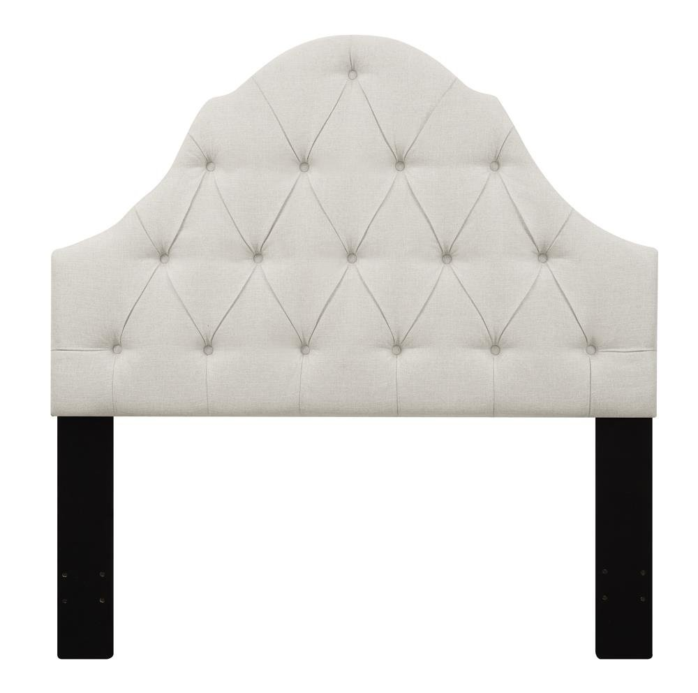 headboard elegant upholstered padded luxurious shapes and white