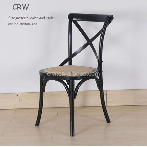 Hot Sale Stackable Wooden Cross Back Dinning Chair