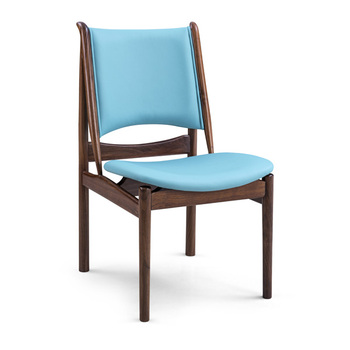 Finn Juhl Egyptian Chair Dinning Chair With Wood Walnut Wood Chair With  Leather