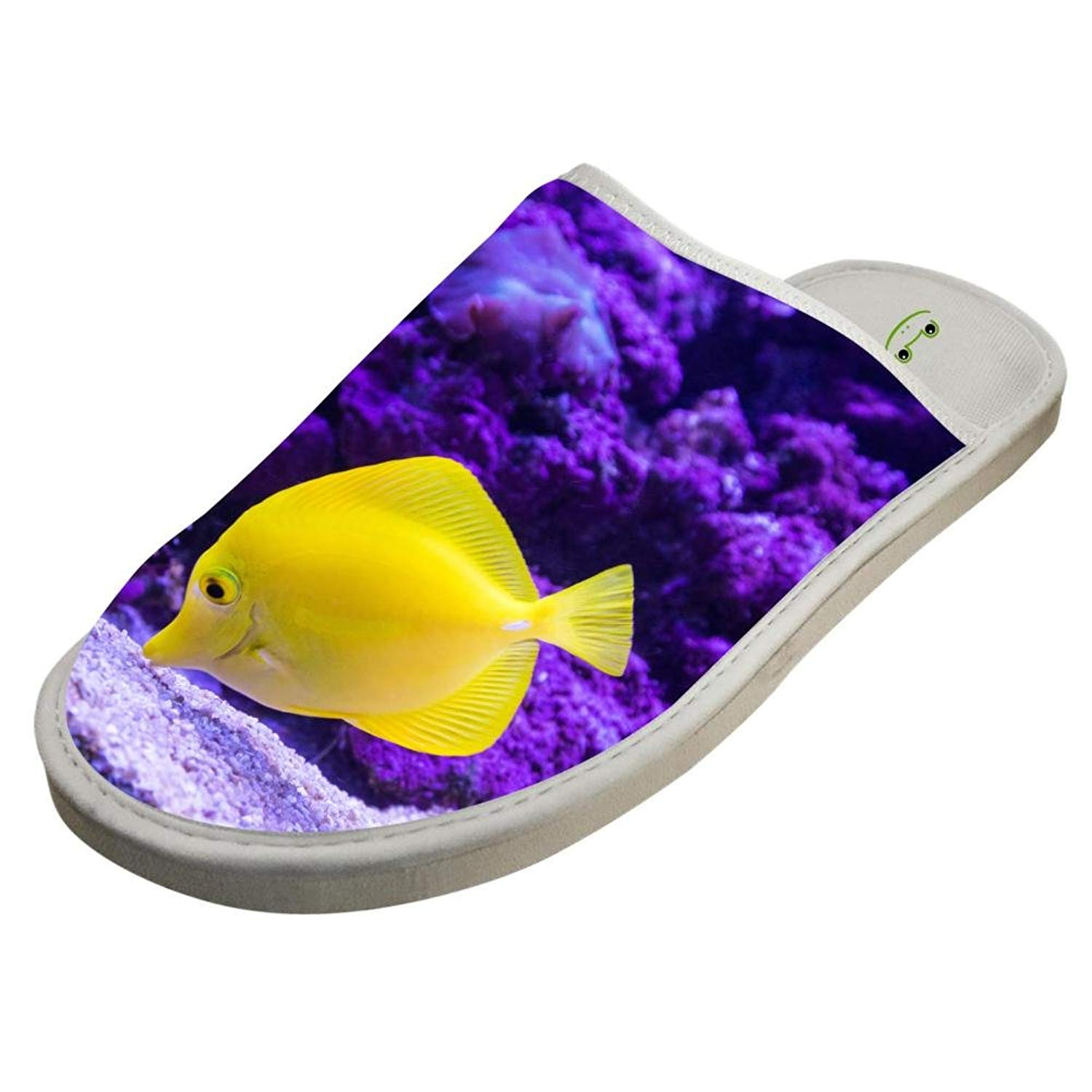 7ea88cf536ea Get Quotations · Slippers with Purple Coral Reef Custom Indoor Sandals  Comfy Shoes Flat House Flip Flops