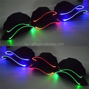 fashion gorgeous led baseball cap can waterproof led baseball cap wholesale charging light caps