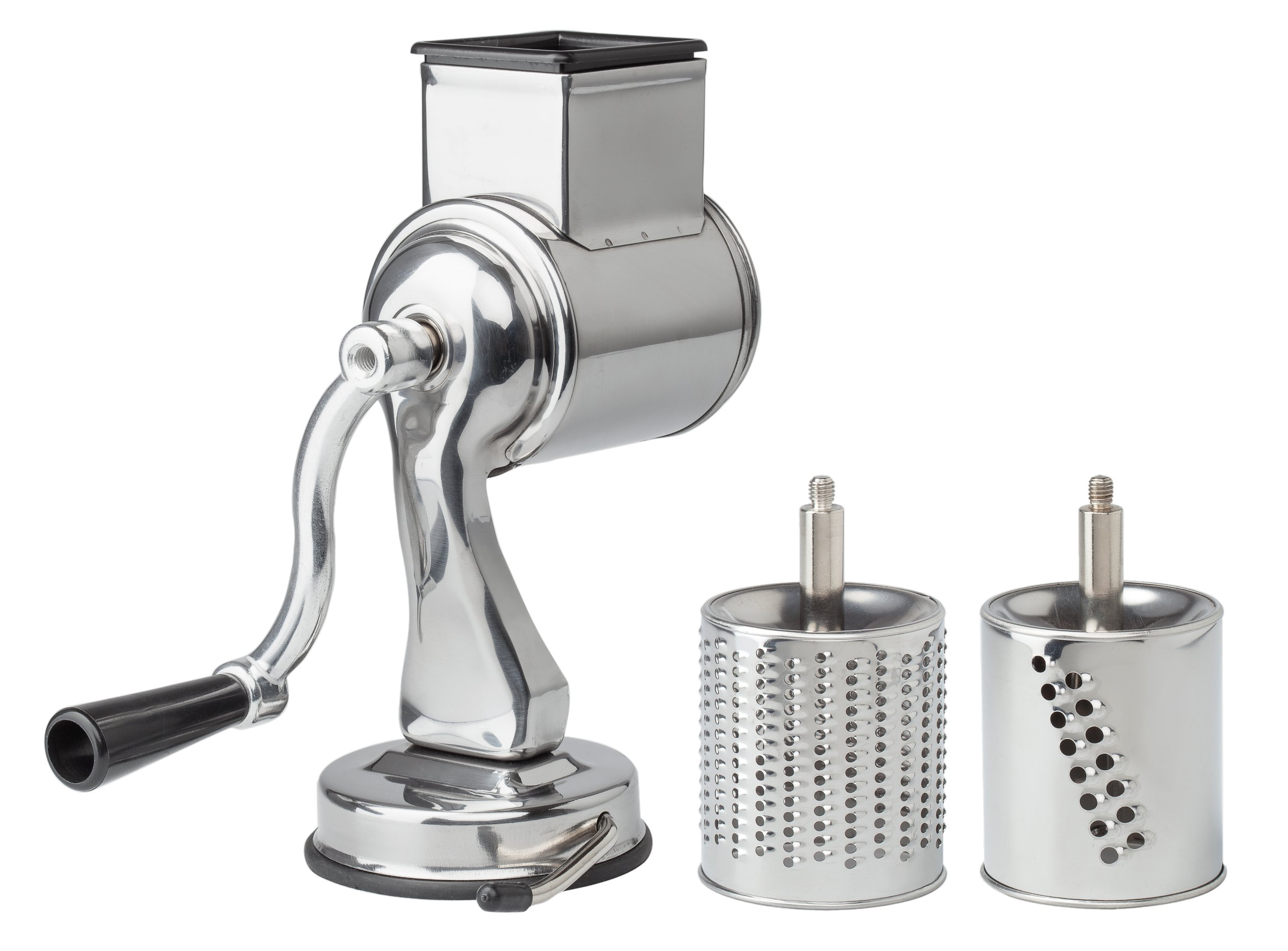 Fantes Cheese Grater with Suction-Base and 2 Drums, The Italian Market Original since 1906