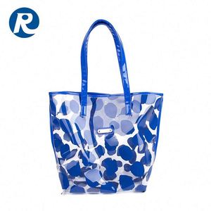Ruiding 2017 Hot Products Eco-friendly Blue PVC Reusable Tote Shopping Bag
