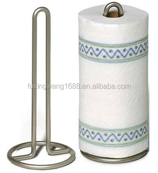Paper Towel Holder, Satin Nickel