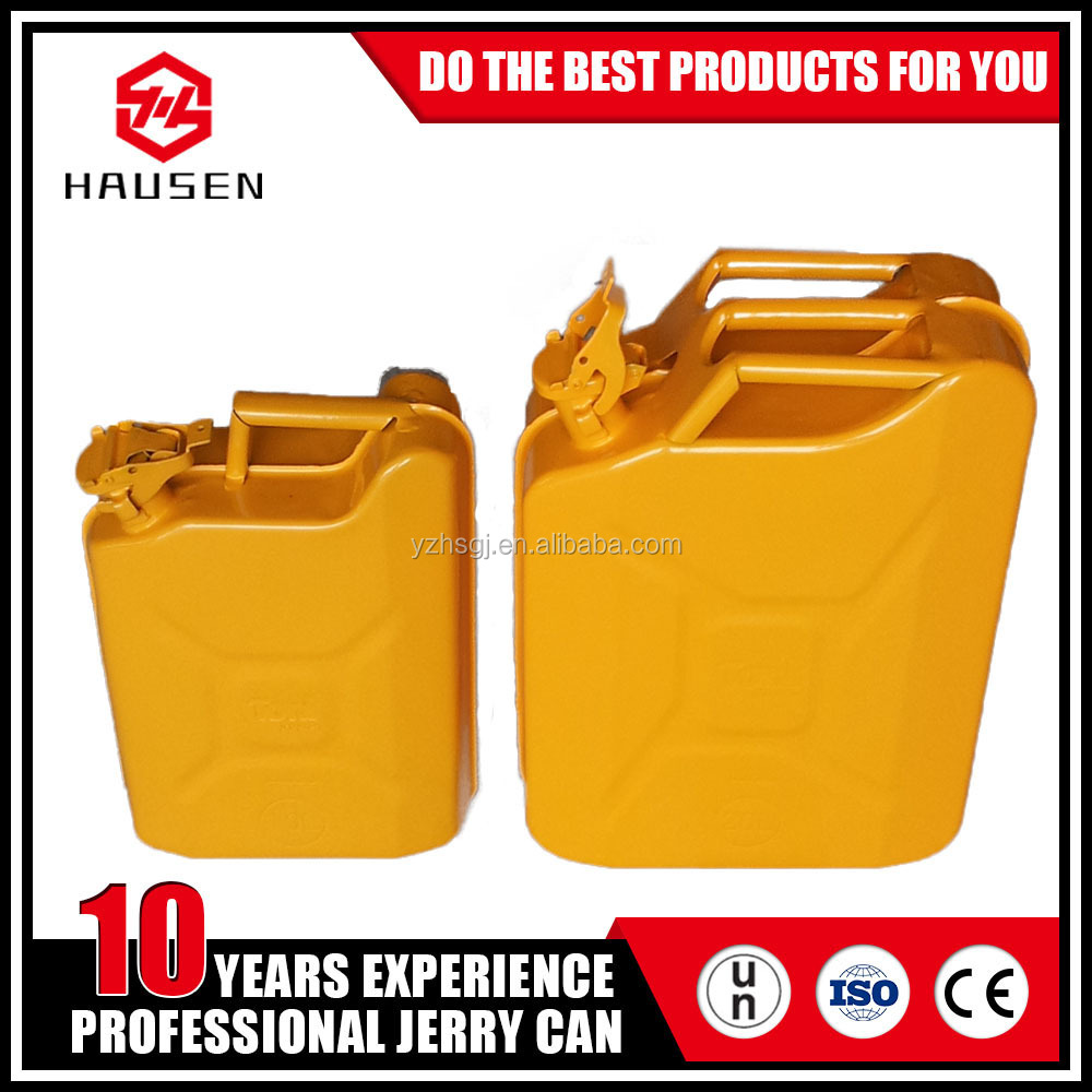 10liter 20L collapsible yellow steel Jerry can for gasoline