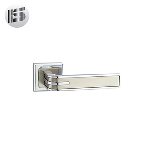 120mm aluminum recessed handles industrial door lever handle on rose