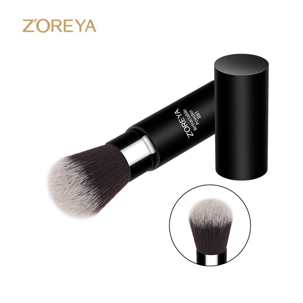 2017 alibaba makeup powder retractable brush available black make up brush