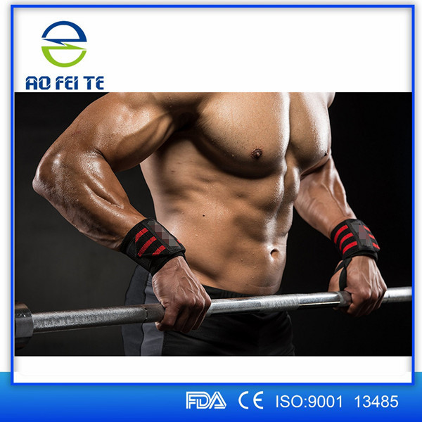 AoFeiTe New Professional Gym Wrist Straps Custom boxing Hand Weight Lifting Wrist Wraps