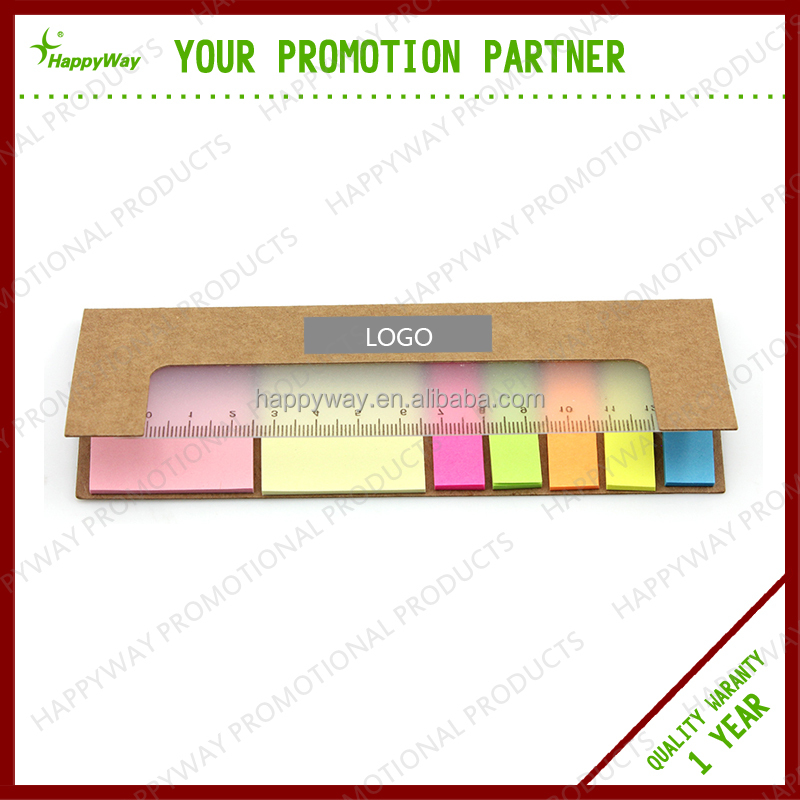 promotional customized sticky notes memo pad with ruler , MOQ100PCS 0703040