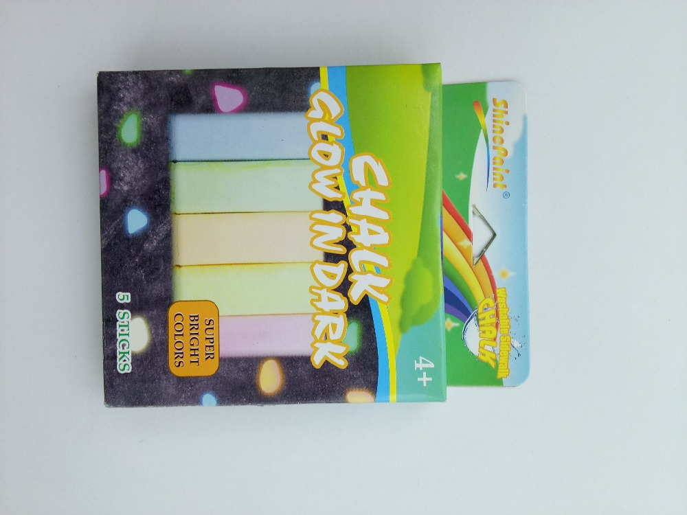 5 PCS GLOW IN THE DARK COLOR CHALK