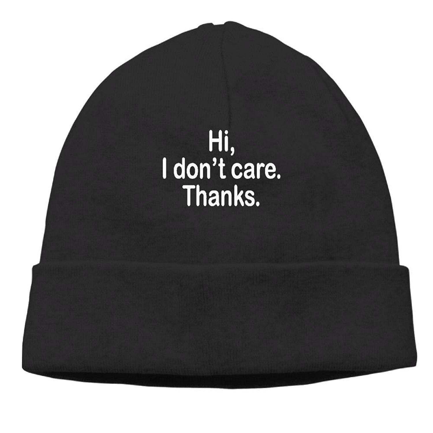 2eb3cc46229 Get Quotations · ZWD010JK Womens Hi I Dont Care - Sarcastic Rude Mean Warm  Sports Style Warm Knit Beanie