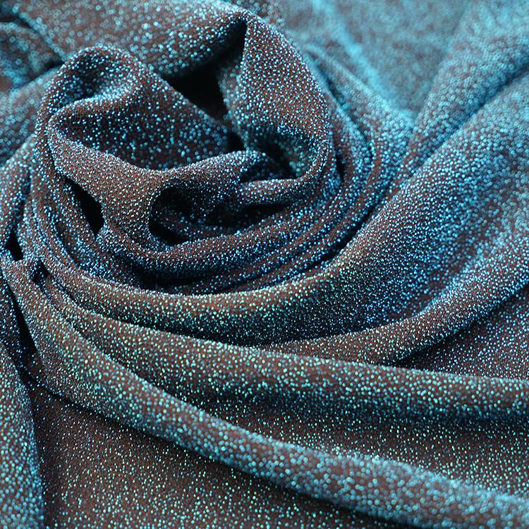 High quality beautiful blue green metal non-woven jacquard brocade fabric