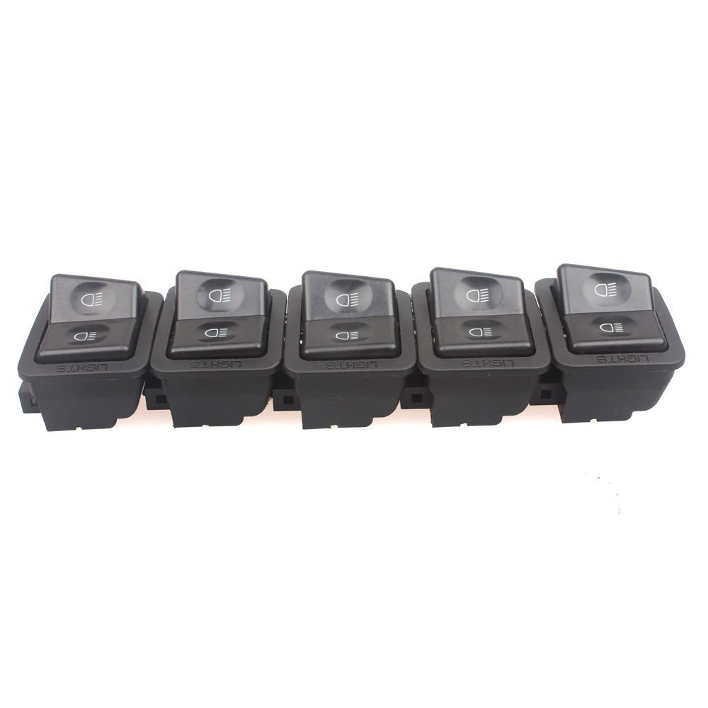 Wingsmoto Warning Lamps Switch Motorcycle Moped Scooter Hazard Roketa Sunl Taotao GY6 Pack of 5