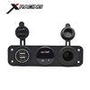 Xracing NM-JY-011 Universal fits for 12V Vehicle, Motorcycle, ATV, Boat, Car or Marine Dual USB car charger