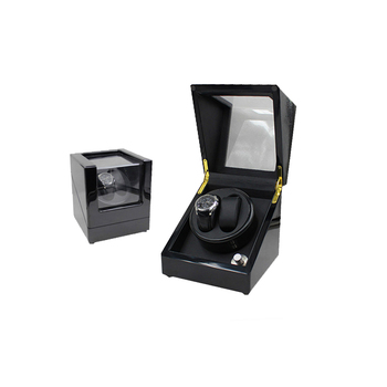 Best 2+0 Black Gloss Lacquer Wooden Dual Automatic Watch Winder 2017